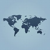 Flat world map clip art download 1000 clip arts page 1 world map on blue background with grid gumiabroncs Gallery