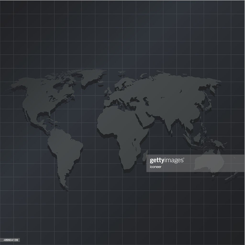 World map on dark background with grid vector art getty images world map on dark background with grid vector art gumiabroncs Image collections