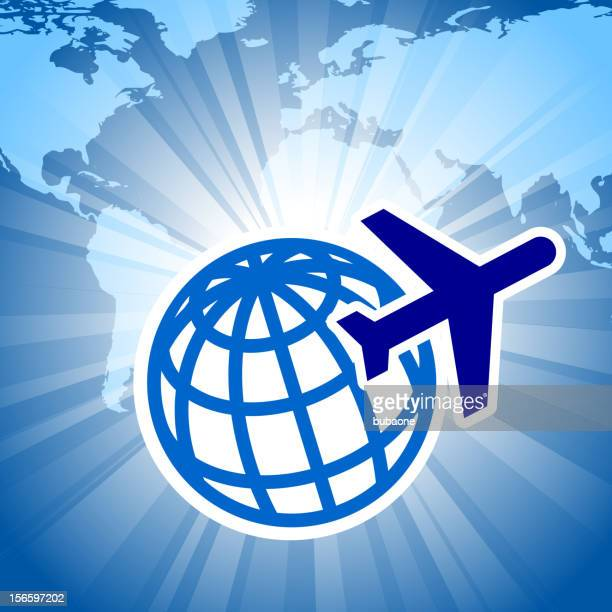 world map on global travel background - ghana stock illustrations, clip art, cartoons, & icons