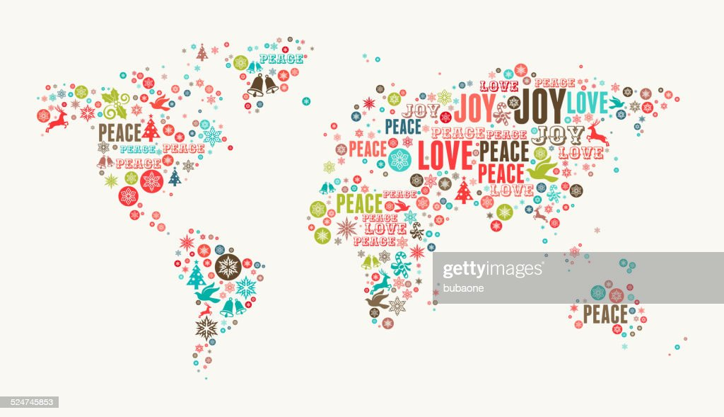World map on holiday christmas white background vector art getty world map on holiday christmas white background vector art publicscrutiny Image collections