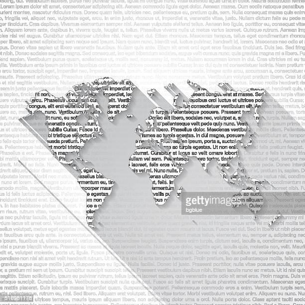 ilustrações, clipart, desenhos animados e ícones de texto mapa-múndi em fundo-sombra longa - lorem ipsum