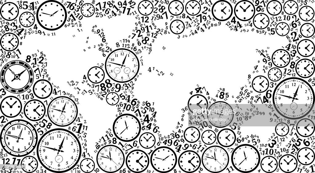 World map on time and clock vector icon pattern vector art getty world map on time and clock vector icon pattern vector art gumiabroncs Image collections