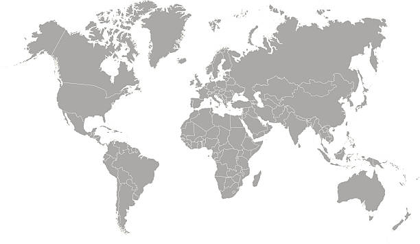 world map outline in gray color | Photos.com