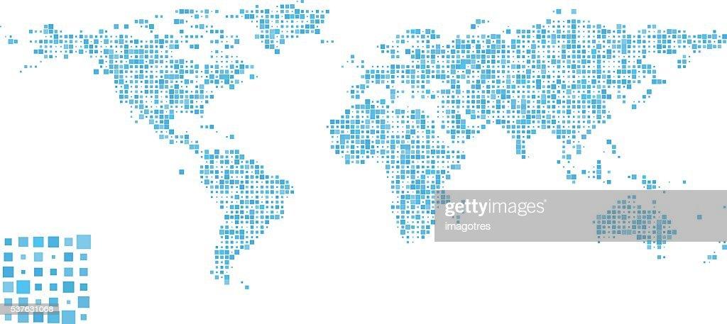 World Map - Pattern Design