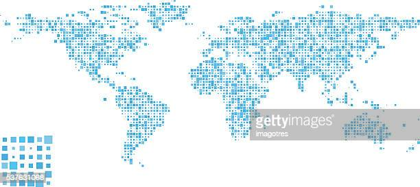 world map - pattern design - latin america stock illustrations, clip art, cartoons, & icons