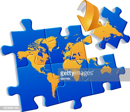 World map puzzle global communications vector art getty images similar images gumiabroncs Choice Image