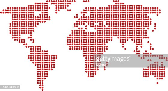 World Map Red Made Of ...