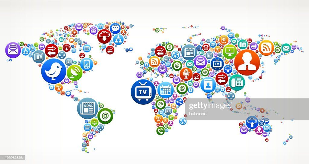 World map royaltyfree vector social networking and internet icon set world map royalty free vector social networking and internet icon set vector art gumiabroncs Choice Image