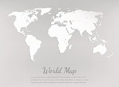 World map silhouette. Paper card map. Vector