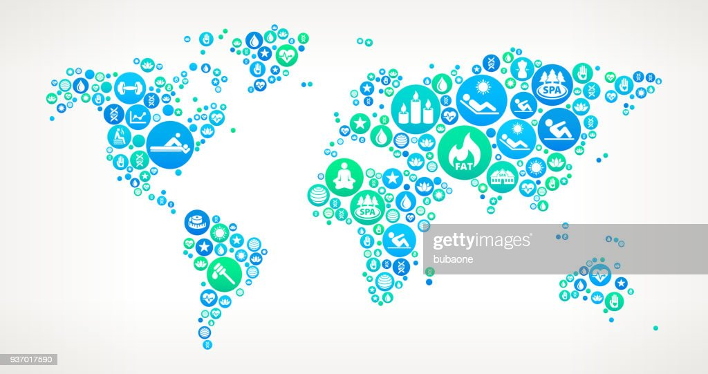 World map spa and wellness vector icon pattern vector art getty images world map spa and wellness vector icon pattern vector art gumiabroncs Images