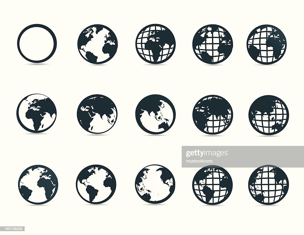 World Map Symbols And Icons Vector Art Getty Images
