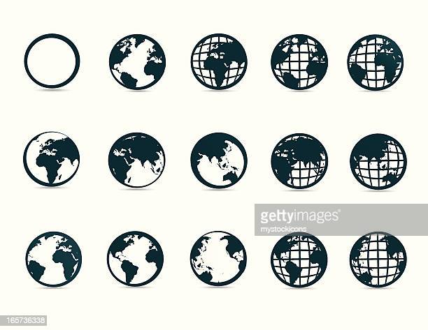 World Map Symbols and Icons
