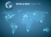World map template for your infographics reports