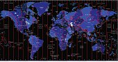 World Map -  Time Zones