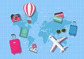 World map travel concept