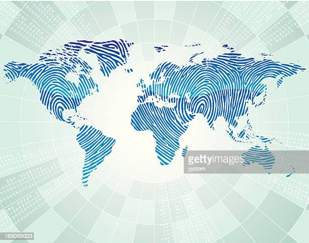 World map perspective stock illustrations and cartoons getty images world map finger print gumiabroncs Images