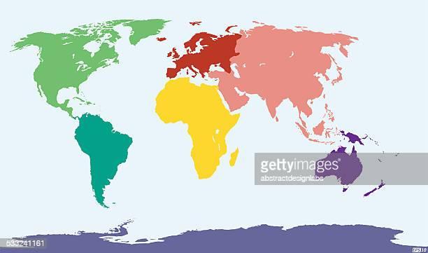 world map - antarctica stock illustrations, clip art, cartoons, & icons