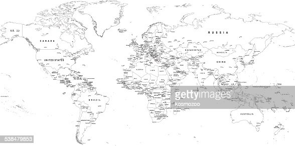 Colorful world map vector art getty images keywords gumiabroncs Gallery