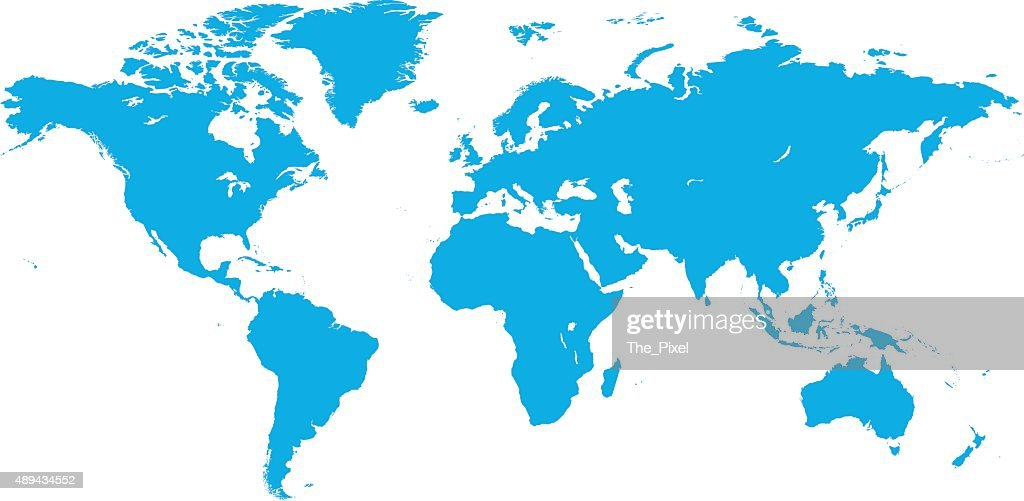 World map vector illustration isolated on white background