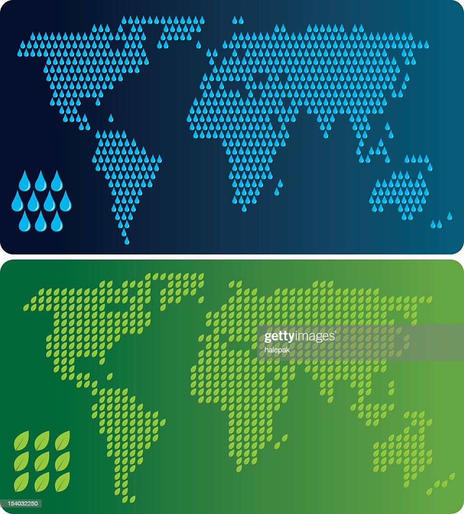 World map water drop and leaf shape vector art getty images world map water drop and leaf shape vector art gumiabroncs Gallery