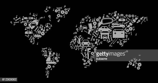 world map wedding and love vector graphic - vehicle hood stock illustrations, clip art, cartoons, & icons