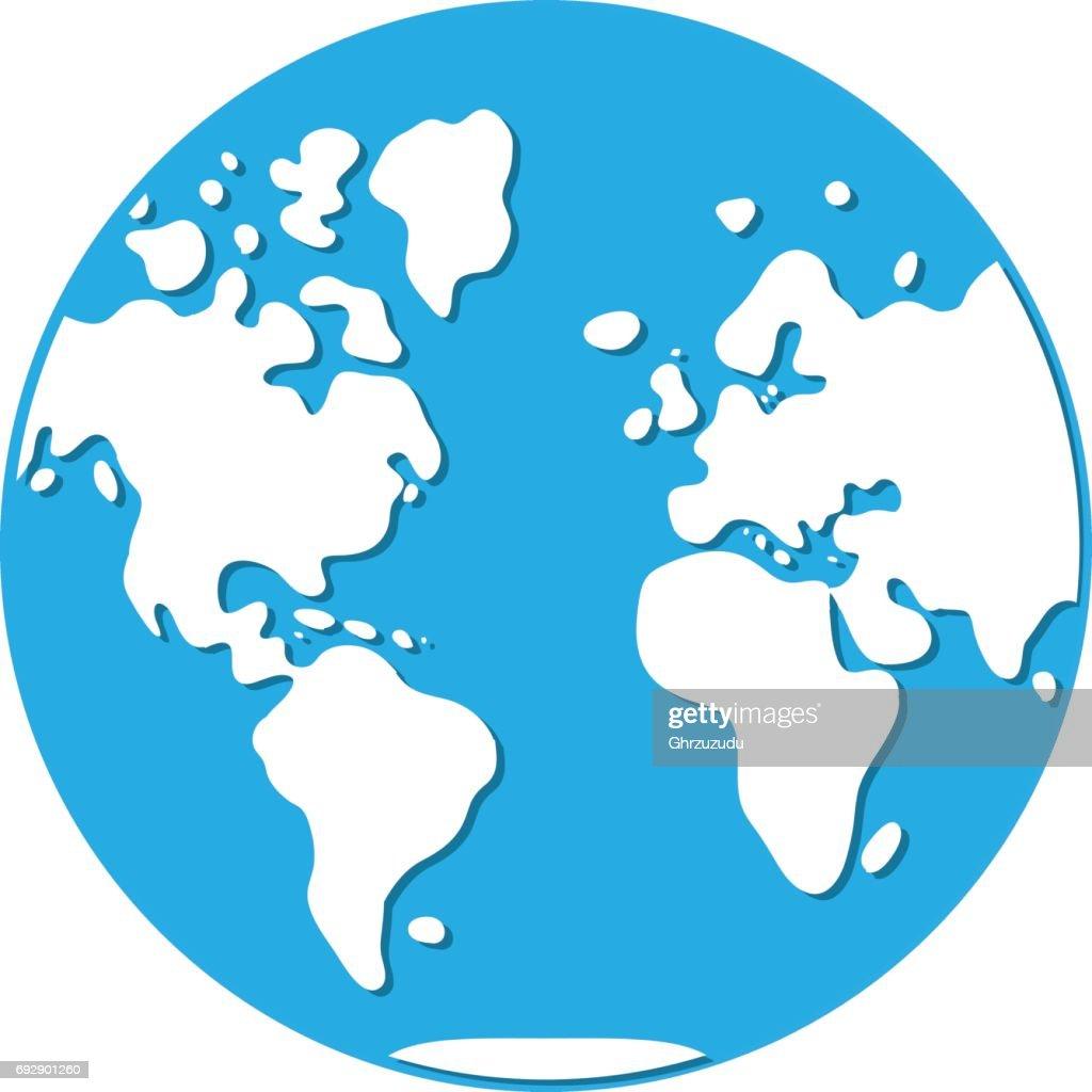 World map western hemisphere globe icon vector art getty images world map western hemisphere globe icon vector art gumiabroncs Images