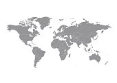World map with countries vector