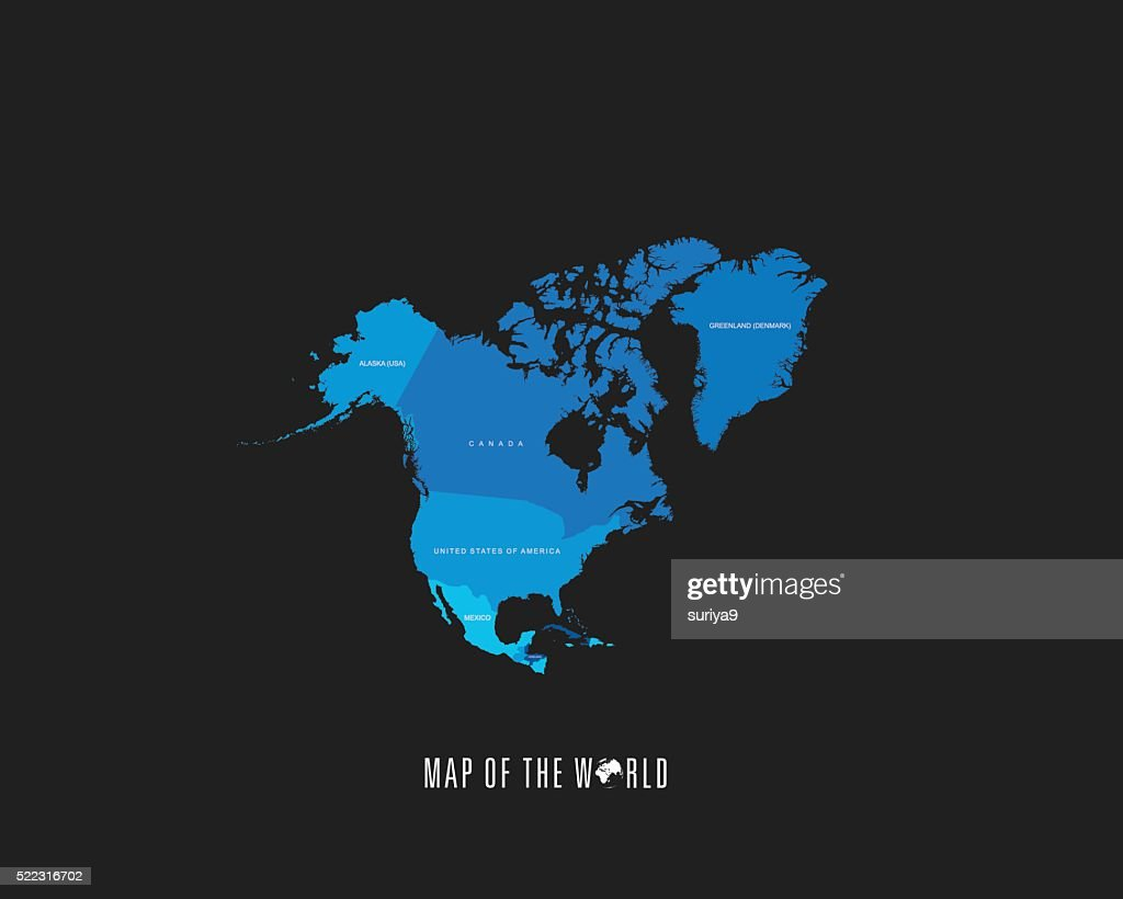 World Map With Different Colored Continents Illustration Vector Art ...