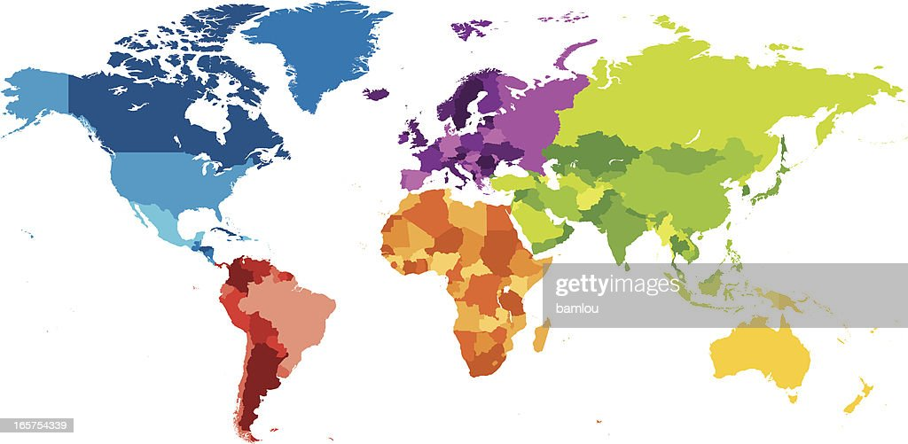 90 blank color world map vector world map vector free black map of continents gumiabroncs Images
