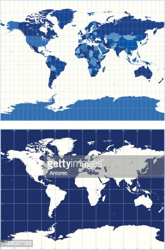 World map with graticules vector art getty images gumiabroncs Images