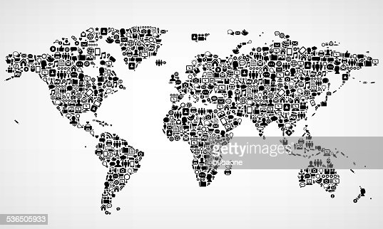 World map with internet technology royalty free vector arts vector world map with internet technology royalty free vector arts vector art getty images gumiabroncs Images