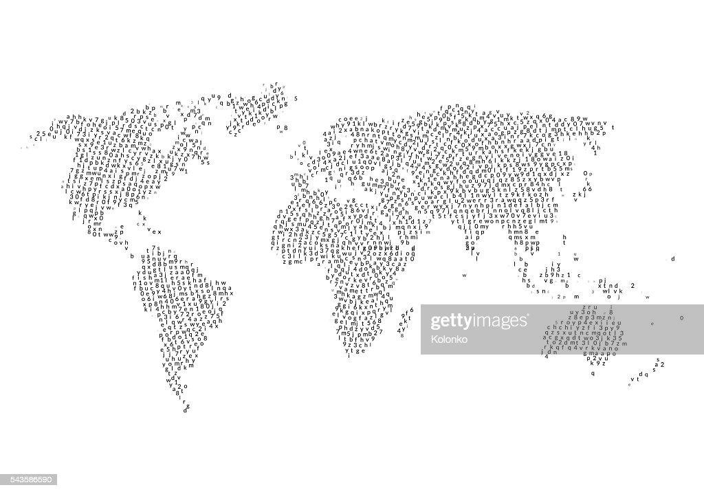 World map with letters inside cloud in shape design vector art world map with letters inside cloud in shape design vector art gumiabroncs Images