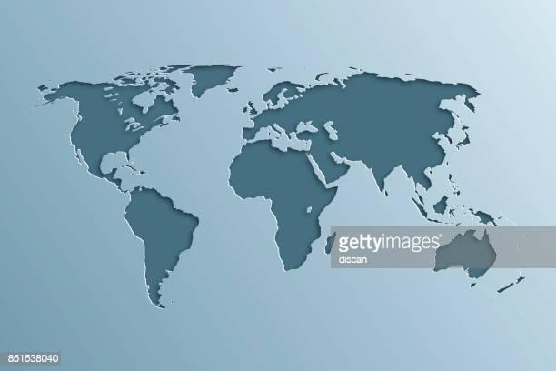世界地図にペーパー カット効果です。 - 南アメリカ点のイラスト素材/クリップアート素材/マンガ素材/アイコン素材