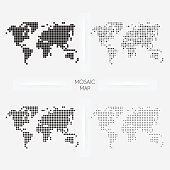 Free patrn de cuadrcula 03 puntos cuadrados clipart and vector world maps mosaic squarred and dotted gumiabroncs Choice Image