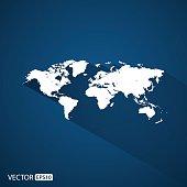 world map.vector