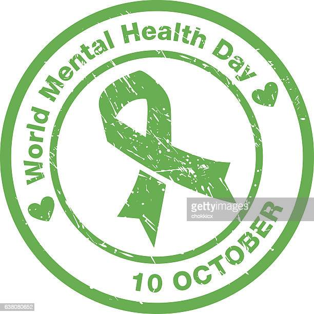 world mental health day - day stock illustrations, clip art, cartoons, & icons