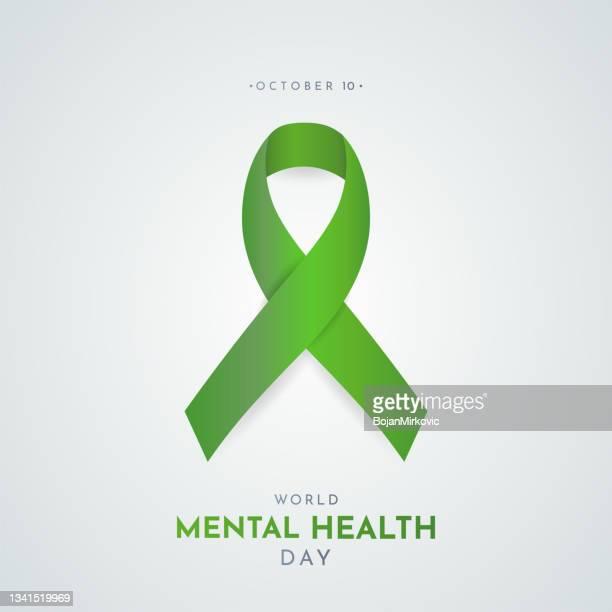 welttag der psychischen gesundheit. vektor - gesellschaftliches symbol stock-grafiken, -clipart, -cartoons und -symbole