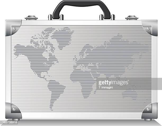 world metal suitcase - handle stock illustrations, clip art, cartoons, & icons