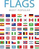 World Most Popular Flags - Illustration