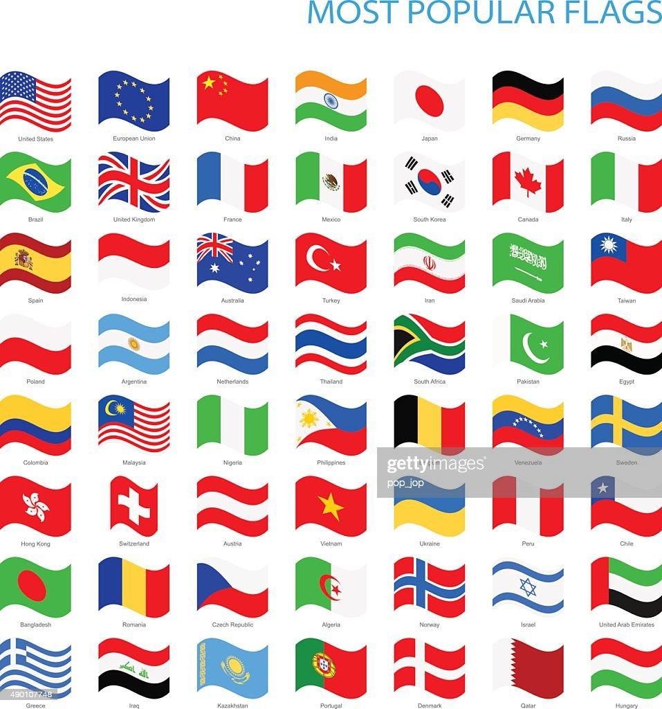 World Most Popular Waving Flags