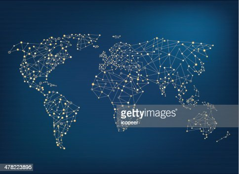World network map vector art getty images sciox Images