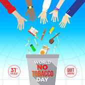 World no tobacco day - concept illustration.