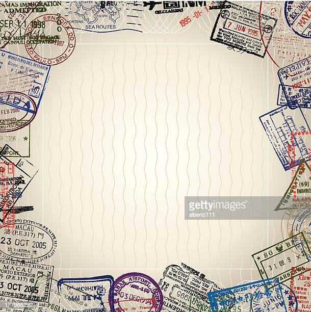 world passport - passport stock illustrations