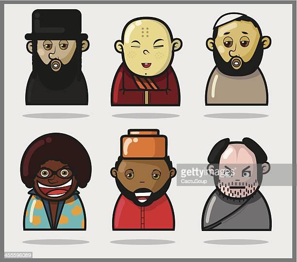 World Personen. Verschiedene Kulturen