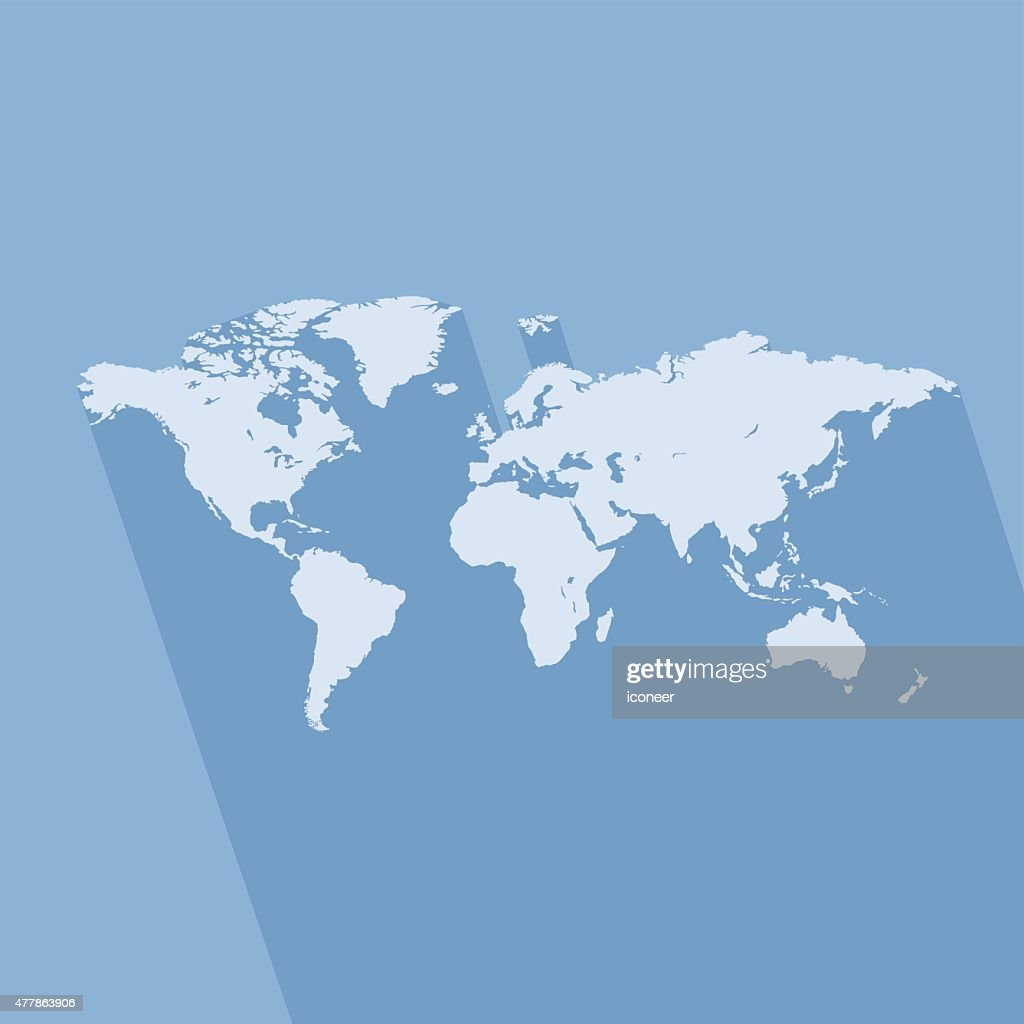World simple blue map on blue background vector art getty images world simple blue map on blue background vector art gumiabroncs Gallery