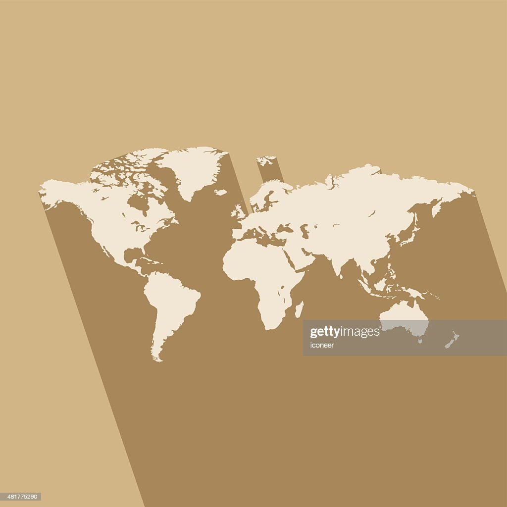 World simple blue map on brown background vector art getty images world simple blue map on brown background vector art gumiabroncs Image collections