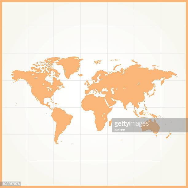 World Map Simple Vector Art And Graphics