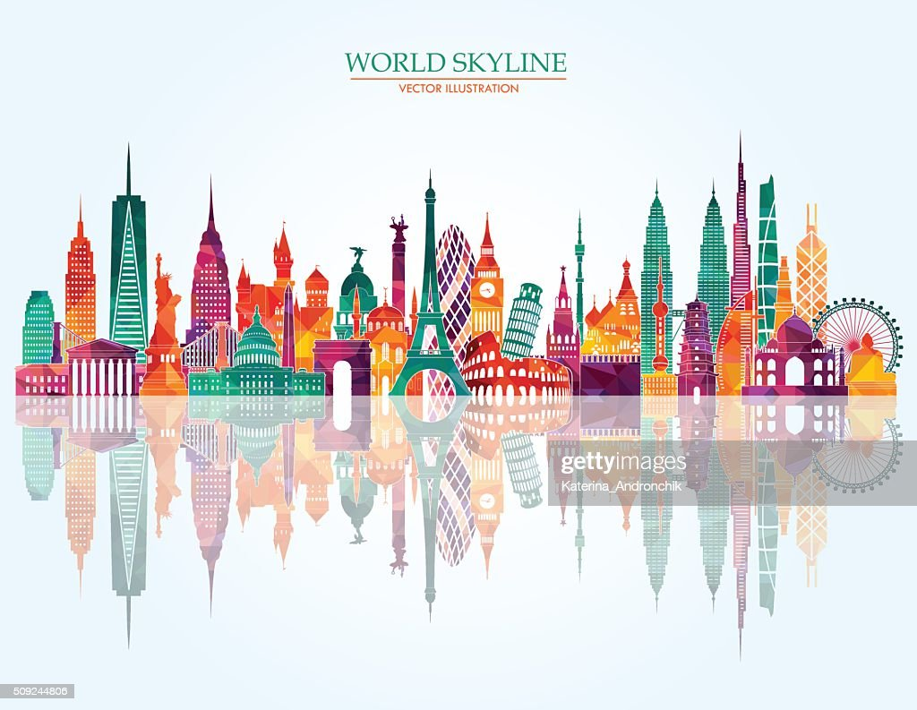 World skyline detailed illustration. Vector illustration