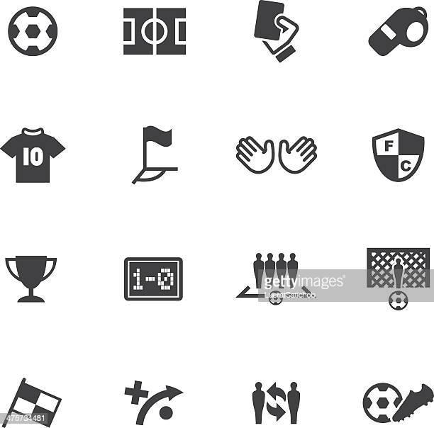 world soccer silhouette icons 1 - soccer uniform stock illustrations