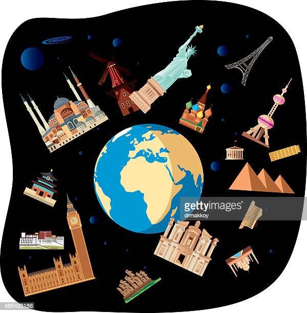 world symbols - jordan middle east stock illustrations, clip art, cartoons, & icons